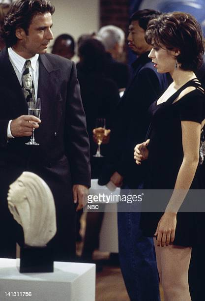 CITY 'Caroline and the Gay Art Show' Episode 3 Aired 10/5/95 Pictured Eric Lutes as Del Cassidy Amy Pietz as Annie Viola Spadaro Photo by Mike...
