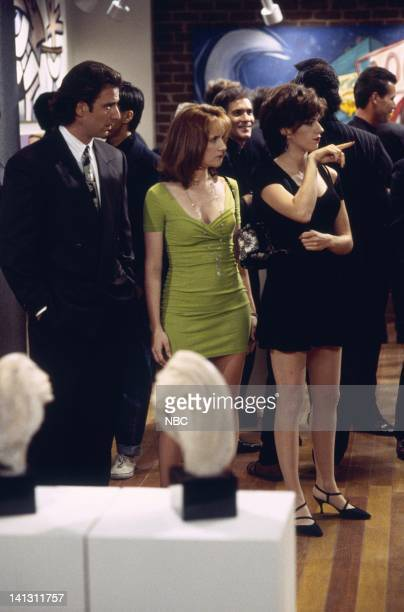 CITY 'Caroline and the Gay Art Show' Episode 3 Aired 10/5/95 Pictured Eric Lutes as Del Cassidy Lea Thompson as Caroline Duffy Amy Pietz as Annie...