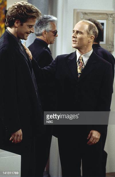 CITY 'Caroline and the Gay Art Show' Episode 3 Aired 10/5/95 Pictured Malcolm Gets as Richard Karinsky Dan Butler as Kenneth Arabian Photo by Mike...