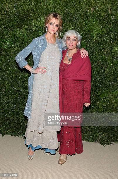Caroline Aparecida Trentini and Alabama Chanin attends The CFDA/Vogue Fashion Fund Awards at Skylight Studio on November 16 2009 in New York City
