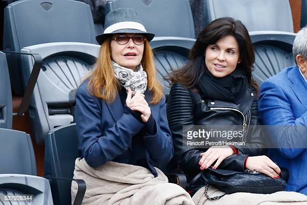 Caroline Barclay and Cyrielle Clair attend the French Tennis Open Day Thirteen at Roland Garros on June 3 2016 in Paris France