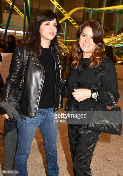 Caroline Barclay and designer Lolita Lempicka attend the 'Jours de Fete au Grand Palais' Fete foraine Opening at Grand Palais on December 2015 in...
