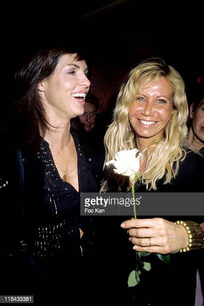 Caroline Barclay and Fiona Gelin during Martell Cognac Chinese New Year Dinner Party February 22 2006 at Castel Club in Paris France
