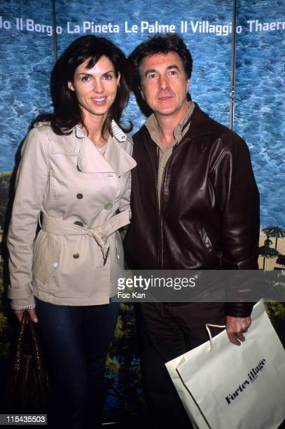 Caroline Barclay and Francois Cluzet during Sardaigne Forte Village Promotion Party at VIP Room in Paris France