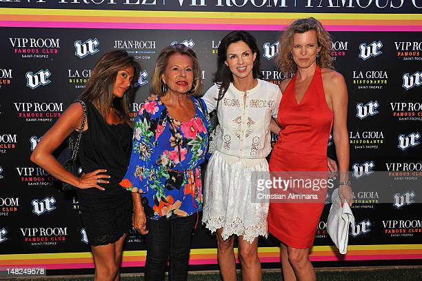 Caroline Barclay and guests arrive at VIP Room to attend the Classic Tennis Tour 2nd Edition Party on July 12 2012 in SaintTropez France