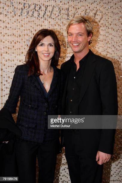 Caroline Barclay and Markus Swarovski attends the Crystallized Swarovski Elements Unbridaled Launch Party during Paris Fashion Week SpringSummer 2008...