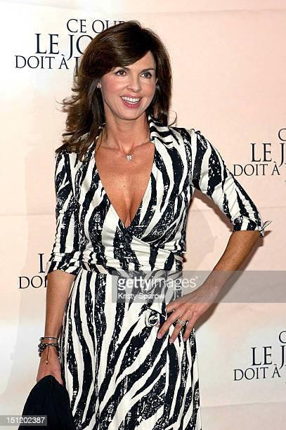 Caroline Barclay attends the 'Ce Que Le Jour Doit A La Nuit' Premiere at the Cinema Gaumont Marignan on September 3 2012 in Paris France