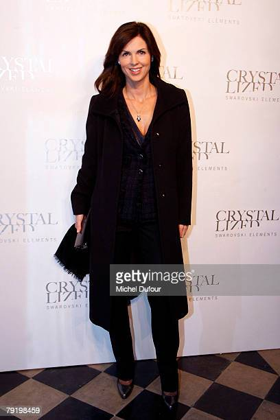Caroline Barclay attends the Crystallized Swarovski Elements Unbridaled Launch Party during Paris Fashion Week SpringSummer 2008 on January 23th at...