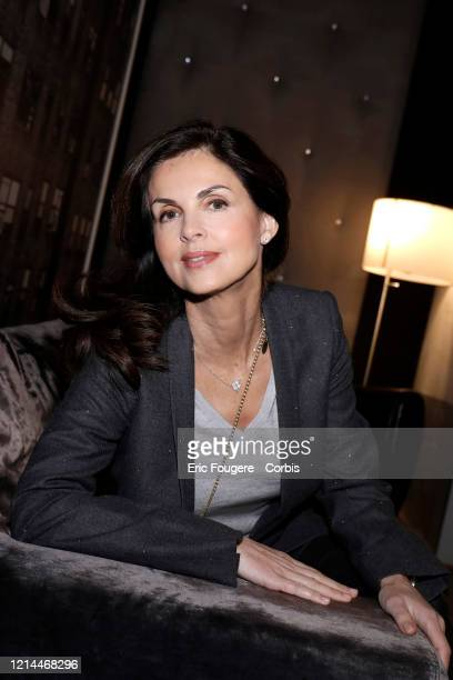Caroline Barclay poses during a portrait session in Paris France on