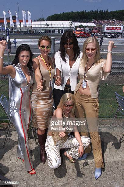 Caroline Beil and and Ex Pornstar Gina Wild and host Nadja Abd El Farrag and Party Girl Ariane Summer In The Formula 1 Nürburgring