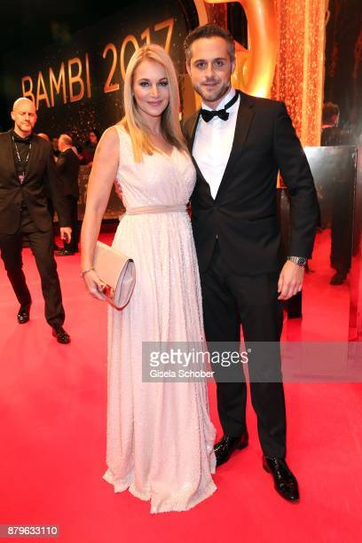 Caroline Beil and her boyfriend Philipp Sattler during the Bambi Awards 2017 at Stage Theater on November 16 2017 in Berlin Germany