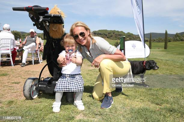 Caroline Beil and her daughter Ava during the FCR EAGLES Masters Toscana golf tournament of FalkRaudies, FCR Immobilien AG at Hotel Il Pelagone and...
