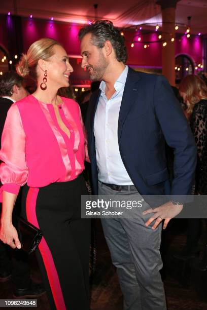 Caroline Beil and her husband Philipp Sattler during the BUNTE & BMW Festival Night at Restaurant Gendarmerie during the 69th Berlinale Filmfestival...