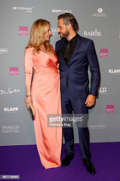Caroline Beil and Philipp Sattler attend the Gloria Deutsche Kosmetikpreis at Hilton Hotel on March 31 2017 in Duesseldorf Germany