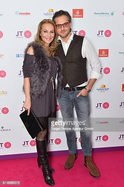 Caroline Beil and Philipp Sattler attend the JT Touristik Celebrates ITB Party at Soho House on March 10 2016 in Berlin Germany