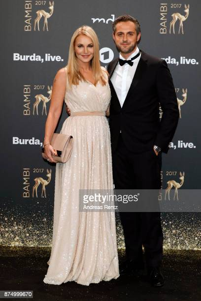 Caroline Beil and Philpp Sattler arrive at the Bambi Awards 2017 at Stage Theater on November 16 2017 in Berlin Germany