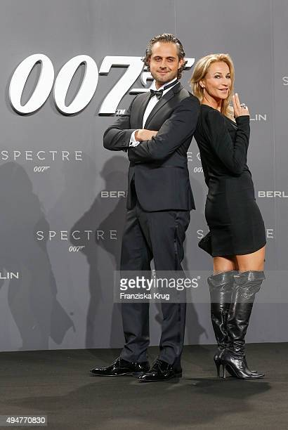 Caroline Beil and Philpp Sattler attend the Spectre' German Premiere on October 28 2015 in Berlin Germany