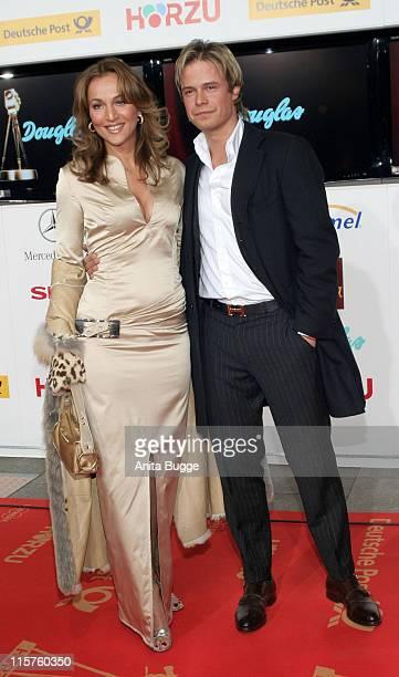 Caroline Beil and Piet Dwojak during 2007 Die Goldene Kamera Awards Arrivals at AxelSpringerVerlag in Berlin Germany