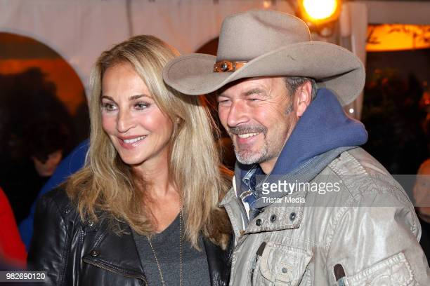 Caroline Beil and Till Demtroeder during the 'Winnetou und das Geheimnis der Felsenburg' premiere on June 23, 2018 in Bad Segeberg, Germany. The Karl...