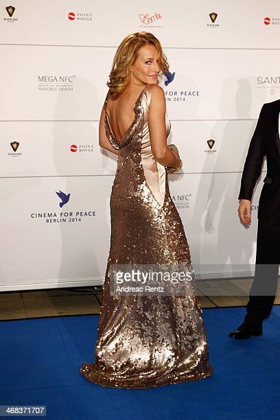 Caroline Beil arrives for the Cinema For Peace 2014 Gala at Konzerthaus Am Gendarmenmarkt on February 10 2014 in Berlin Germany
