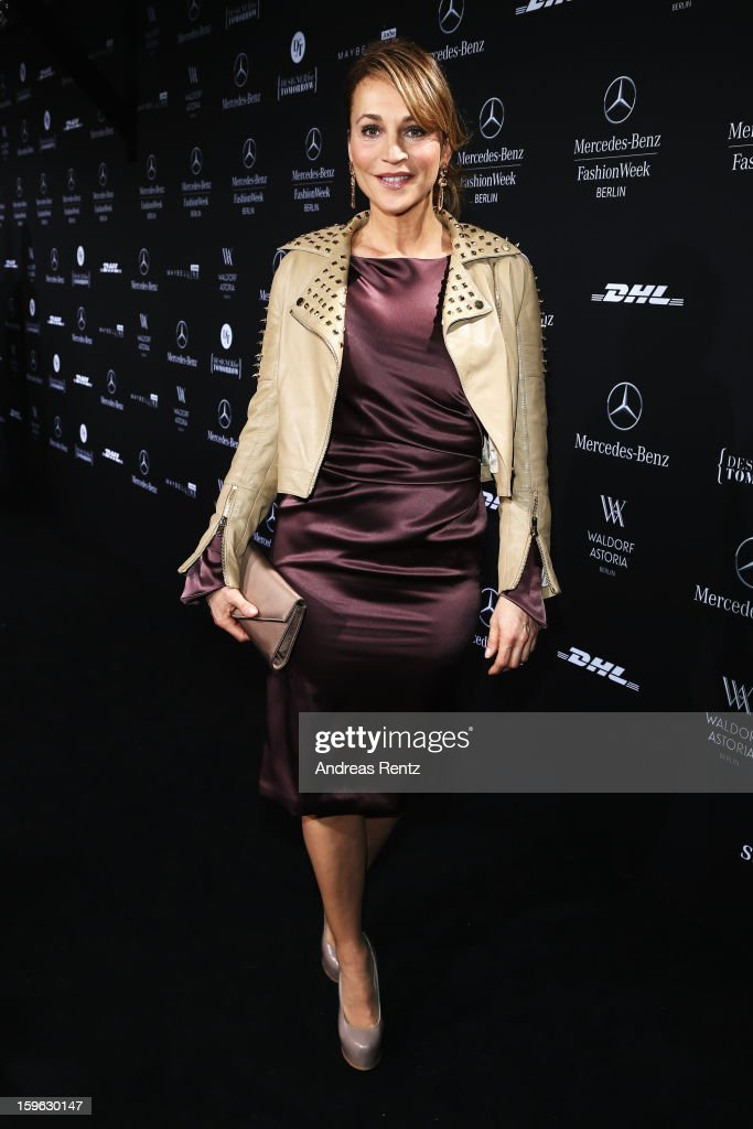 Caroline Beil attends Guido Maria Kretschmer Autumn/Winter 2013/14 fashion show during Mercedes-Benz Fashion Week Berlin at Brandenburg Gate on January 17, 2013 in Berlin, Germany.