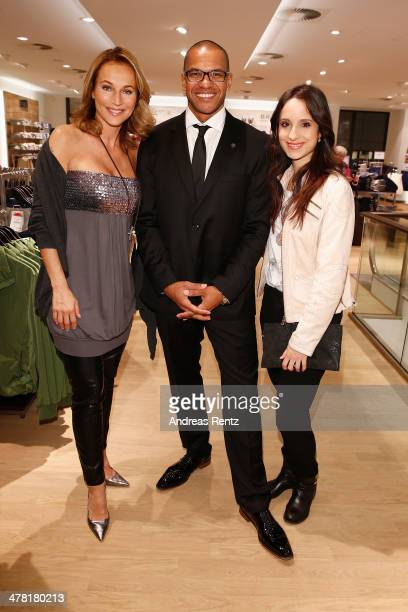 Caroline Beil Pierre Geisensetter and Stephanie Stumph attend the Pohland store opening on March 12 2014 in Dortmund Germany