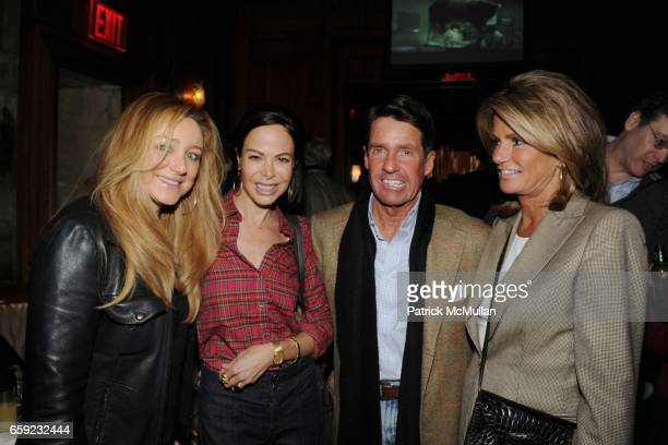 Caroline Berthet Allison Sarofim Chris Meigher and Grace Meigher attend SUPER BOWL Party at The Oak Room on February 1 2009 in New York City