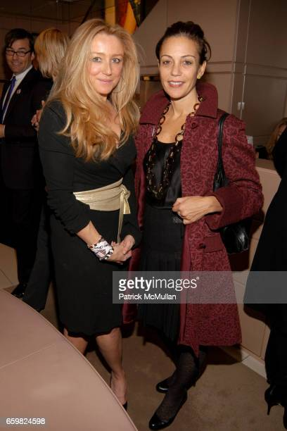 Caroline Berthet and Susan Cappa attend Jimmy Choo and Vogue Celebrate the Launch of Project PEP at Jimmy Choo on November 4 2009 in New York City