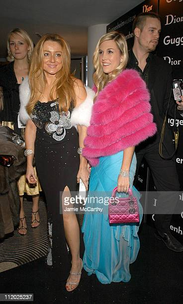 Caroline Berthet and Tinsley Mortimer during Dior Sponsors Artist's Ball Honoring Matthew Ritchie Red Carpet and Inside at Guggenheim Museum in New...