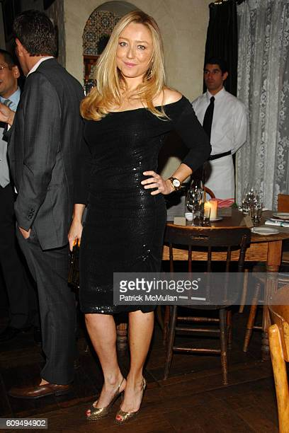 Caroline Berthet attends GIORGIO ARMANI Private Dinner for NINA GARCIA's new book Little Black Book of Style at Gemma on September 17 2007 in New...