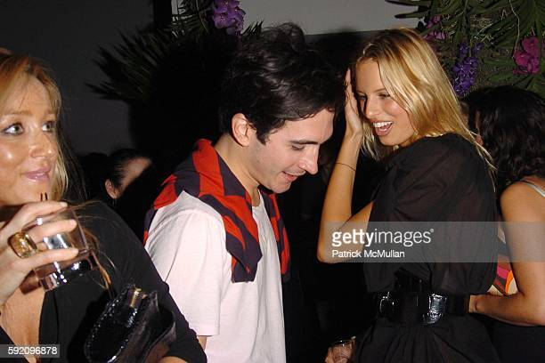 Caroline Berthet Lazaro Hernandez and Karolina Kurkova attend Afterparty for the CALVIN KLEIN Spring 2006 Collection and Launch of EUPHORIA at Club...