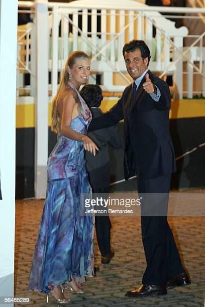 Caroline Bittencourt and guest attend the wedding of Brazilan footballer Ricardo Izecson dos Santos Leite also known as Kaka to his long time...