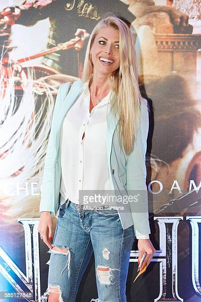 Caroline Bittencourt attends the Brazil Premiere of the Paramount Pictures film BenHur on August 1 2016 at Cinepolis JK in Sao Paulo Brazil