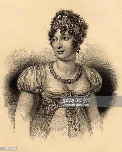 Caroline Bonaparte 17821839 Queen of Naples 180815 Sister of NapoleonPhotoetching after the engraving by Hopwood From the book ' Lady Jackson's Works...