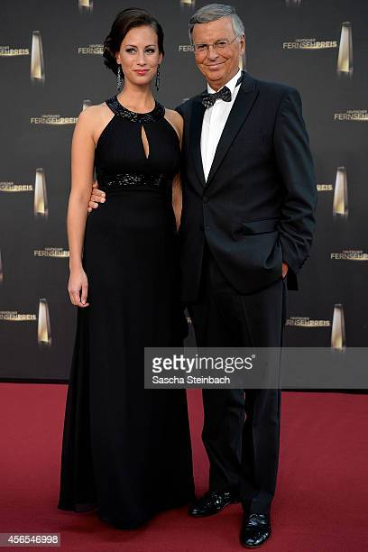 Caroline Bosbach and Wolfgang Bosbach arrive at the Deutscher Fernsehpreis 2014 at Coloneum on October 2 2014 in Cologne Germany