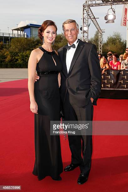 Caroline Bosbach and Wolfgang Bosbach attend the red carpet of the Deutscher Fernsehpreis 2014 on October 02 2014 in Cologne Germany