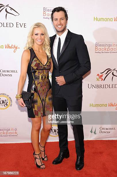 Caroline Boyer and Luke Bryan attend the Unbridled Eve Gala for the 139th Kentucky Derby at The Galt House Hotel Suites' Grand Ballroom on May 3 2013...