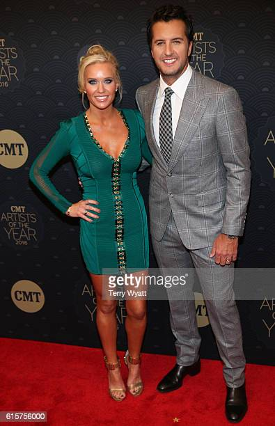 Caroline Boyer and singersongwriter Luke Bryan arrive on the red carpet at CMT Artists of the Year 2016 Schermerhorn Symphony Center on October 19...