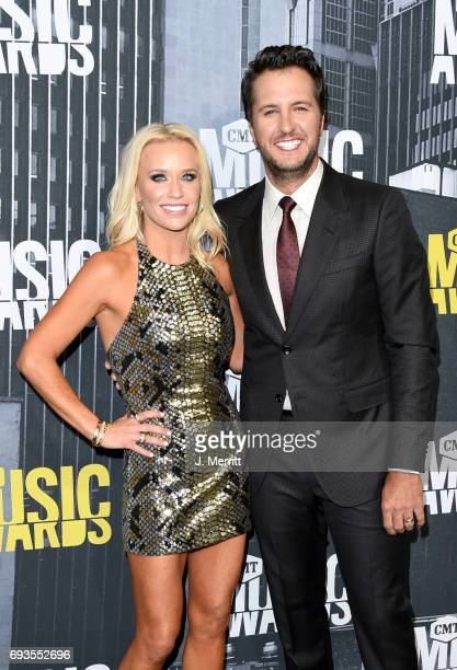 Caroline Boyer and singersongwriter Luke Bryan attend the 2017 CMT Music Awards at the Music City Center on June 7 2017 in Nashville Tennessee