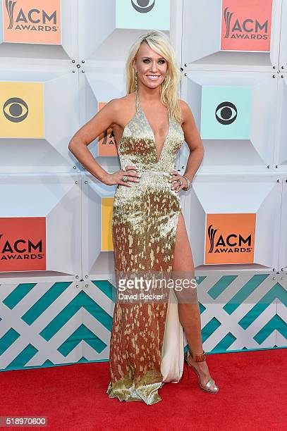 Caroline Boyer attends the 51st Academy of Country Music Awards at MGM Grand Garden Arena on April 3 2016 in Las Vegas Nevada