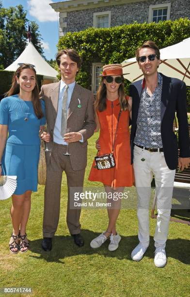 Caroline Brady Tara Ferry Lady Alice Manners and Otis Ferry attend Cartier Style Et Luxe at the Goodwood Festival Of Speed on July 2 2017 in...