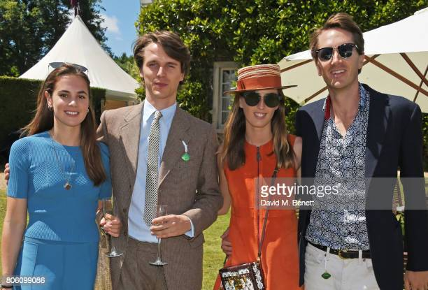 Caroline Brady Tara Ferry Lady Alice Manners and Otis Ferry attends Cartier Style Et Luxe at the Goodwood Festival Of Speed on July 2 2017 in...