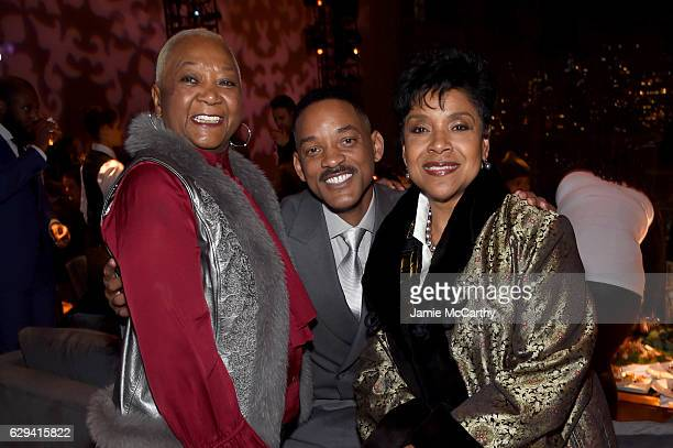 "Caroline Bright, Will Smith and Phylicia Rashad attend the ""Collateral Beauty"" World Premiere After Party at Frederick P. Rose Hall, Jazz at Lincoln..."