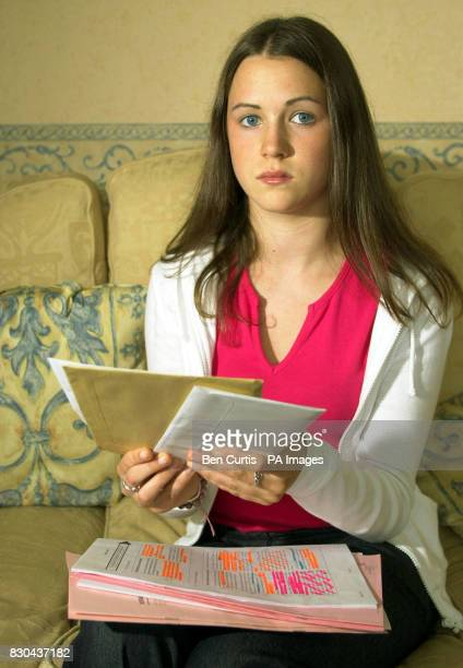 Caroline Brodie from Bridge of Weir in Scotland who along with many others failed to receive the results of her Scottish Higher exams in the post due...