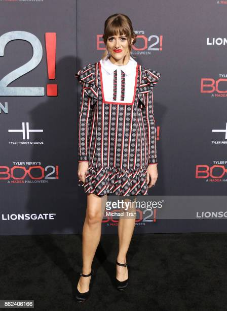 Caroline Brooks aka Bellsaint arrives at Lionsgate's 'Tyler Perry's Boo 2 A Madea Halloween' held at Regal LA Live Stadium 14 on October 16 2017 in...