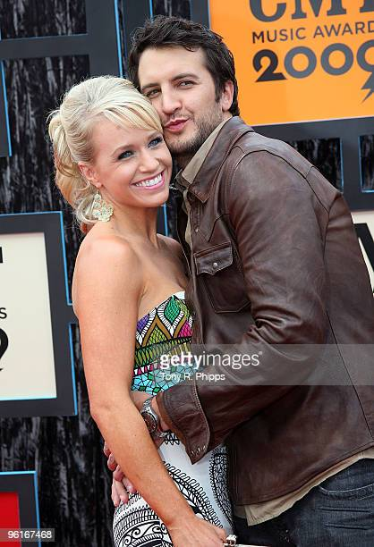 Caroline Bryan and Luke Bryan attends the 2009 CMT Music Awards at the Sommet Center on June 16 2009 in Nashville Tennessee