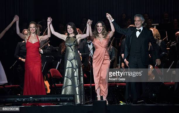 Caroline Campbell Ana Maria Martinez Katharine McPhee and Andrea Bocelli perform in concert at Prudential Center on December 18 2016 in Newark New...