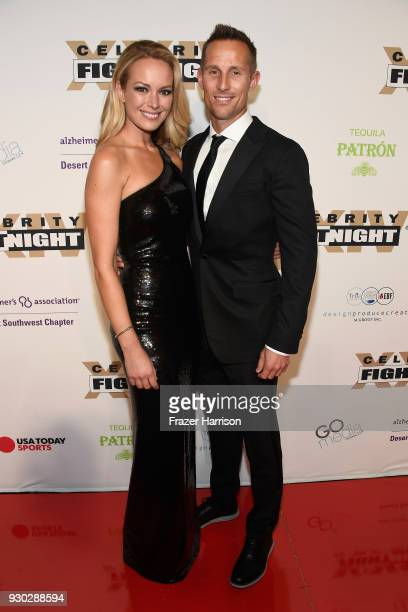 Caroline Campbell and guest attend Celebrity Fight Night XXIV on March 10, 2018 in Phoenix, Arizona.