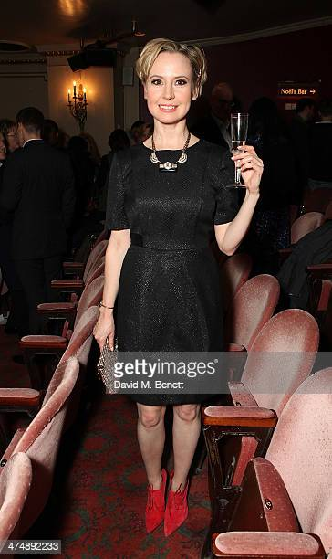 """Caroline Carver attends an after party inside the Noel Coward Theatre following the press night performance of """"The Full Monty"""" on February 25, 2014..."""