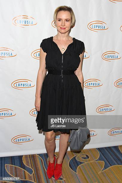 Caroline Carver attends the 11th Annual Lupus LA Hollywood Bag Ladies Luncheon at Regent Beverly Wilshire Hotel on November 15, 2013 in Beverly...
